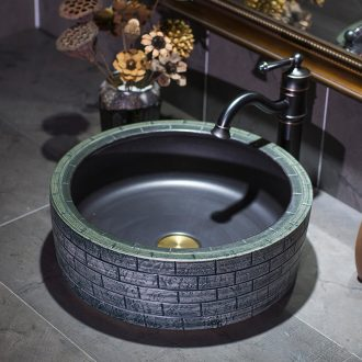 Jingdezhen ceramic lavatory household toilet stage basin restoring ancient ways round the sink water basin of Chinese style basin that wash a face