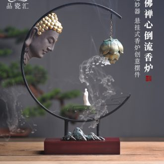 The Product porcelain sink asked Buddha lotus back censer Chinese zen creative furnishing articles furnishing articles ceramic home sitting room sweet fume furnace