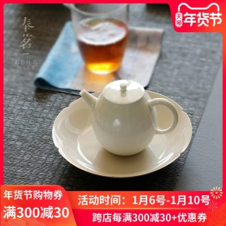Serve tea hand bearing plant ash pot dry plate tea ceramic water tea adopt Japanese creative kung fu tea saucer