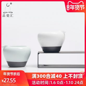Reasonable product porcelain hui xuan wen zen cup kung fu tea and a cup of tea tea sea points exchanger with the ceramics up white matte enrolled