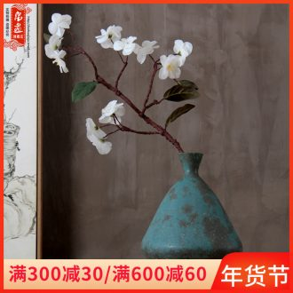 Ceramic vase furnishing articles sitting room zen flower arranging flowers is narrow small expressions using saliva to raise flowers, dried flowers, tea room decoration for the Buddha