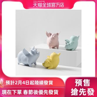 [directly] jingdezhen ceramic biscuit firing color mud Nordic marca dragonfly pig furnishing articles creative sitting room place adorn article