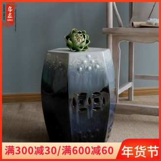 Drum who ceramic stools decorative porcelain pier cold pier of new Chinese style originality sit toilet who sitting room between example porcelain who