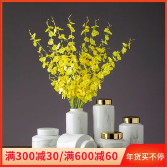 Imitation marble ceramic pot household act the role ofing is tasted furnishing articles living room ceramic flower implement porcelain furnishing articles table dried flowers