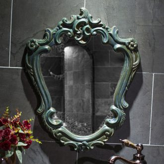 The New European style bathroom mirror jingdezhen ceramic bathroom mirror glass cosmetic mirror high temperature durable porcelain bathroom mirror