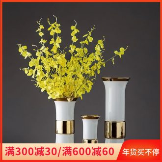 Jingdezhen porcelain ceramic vase home sitting room place, Chinese style is I and contracted dried flower arranging flowers creative decorations