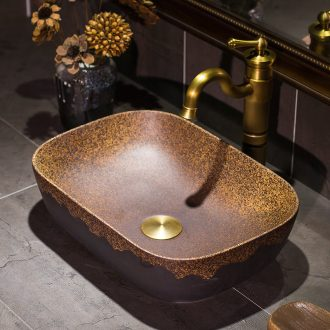 Ceramic lavabo stage basin art oval lavatory basin American wash basin bathroom basin