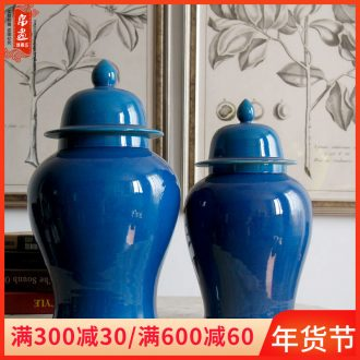Jingdezhen ceramic vase general blue as cans classical household decorative dried flowers flower arrangement sitting room porch receive furnishing articles