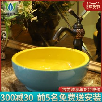 Industrial wind stage basin sink I and contracted household ceramic toilet lavatory creative contracted art