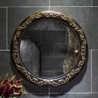 Chinese large round mirror mirror of ceramic high temperature durable porcelain sanitary toilet mirror for wash gargle bathroom mirror of the bathroom