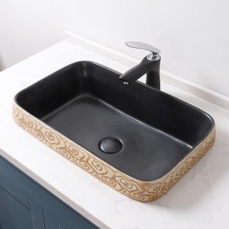 Taichung basin half embedded oblong and Mosaic lavabo ceramic hang basin half embedded art basin