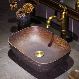 Europe type ultra - thin stage basin square ceramic lavatory basin sink contracted household American retro toilet