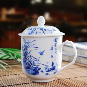 The New product of jingdezhen ceramic cups office cup cup with personal cup with cover glass cup and meeting