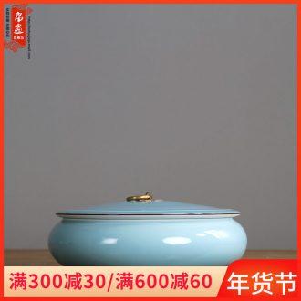 Jingdezhen ceramics caddy fixings variable glaze manual creative tea house home sitting room place the metal handle POTS