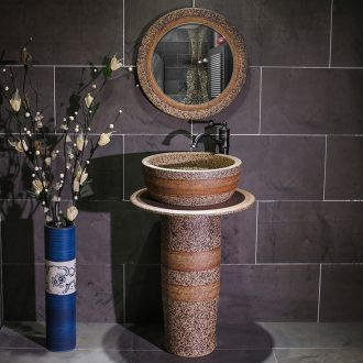 Ceramic pillar lavabo household bathroom floor balcony toilet indoor art pillar basin washing a face