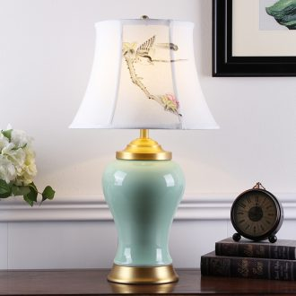 New Chinese style restoring ancient ways American ceramic desk lamp sitting room hotel villa clubhouse porch decoration lamps and lanterns of bedroom the head of a bed