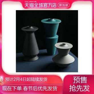 [directly] modern simplicity of jingdezhen ceramic art designer antique vase the mock up room with rotary table vase