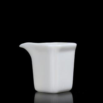 Quiet life Chinese white ceramic tea fair keller single tea sea home tea ware kung fu tea ware