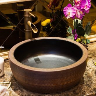 Jingdezhen ceramic table sinks contracted art basin on its round archaize home toilet lavabo