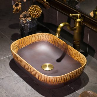 Jingdezhen ceramic thin expressions using Mediterranean style stage basin sink basin is the basin that wash a face of small family toilet