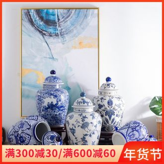 Jingdezhen ceramics furnishing articles table sitting room of Chinese style household adornment wedding gift of archaize of blue and white porcelain clay