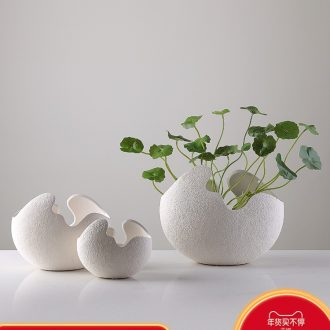 Ins contracted and I ceramic vase Nordic creative mesa hydroponic vase furnishing articles furnishing articles flower arrangement sitting room adornment