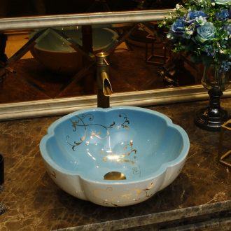 The stage basin American round art basin of new Chinese style restoring ancient ways ceramic face basin bathroom sinks The pool that wash a face to wash your hands