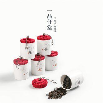 Yipin # $caddy fixings ceramics with cover kung fu tea set seal storage tanks trumpet tea urn portable tank tea