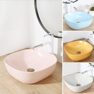 Square ceramic toilet lavabo matte enrolled the lavatory basin of northern Europe on household art basin water basin basin