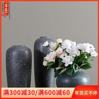 Dried flower flower vase jingdezhen ceramic sitting room adornment is placed coarse pottery I and contracted rural desktop restoring ancient ways