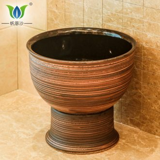 Balcony small ceramic art mop pool floor mop mop pool household washing mop pool mop basin home 40 cm
