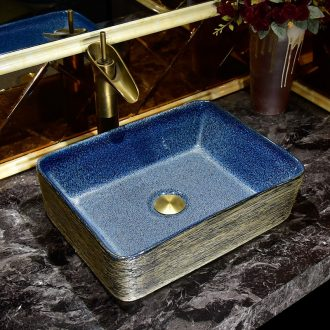 European ceramic art stage basin square bathroom toilet lavatory household balcony sink contracted restoring ancient ways