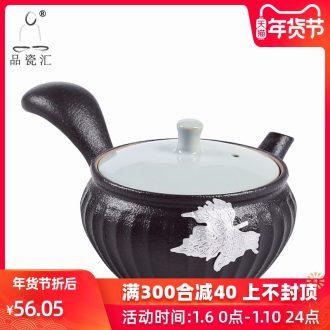 The Product porcelain sink black ceramic teapot side set the lid bowl of coarse pottery Japanese portable tin zen wind restoring ancient ways is kung fu tea set