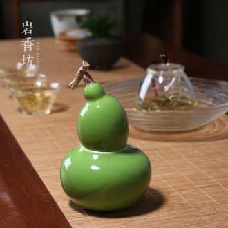 YanXiang fang gourd small pure and fresh and lovely small ornament ceramic caddy fixings small seal POTS