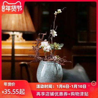 Checking out ceramic flower pot flower implement Japanese zen art flower arranging elder brother up flower small origin teahouse ikebana furnishing articles