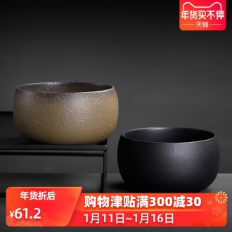 Japanese coarse pottery tea wash your kung fu tea water jar large ceramic cup cup bowl of tea taking parts office restoring ancient ways