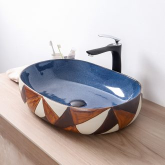 Europe type restoring ancient ways of ceramic art stage basin sink oval face basin sink toilet lavatory basin