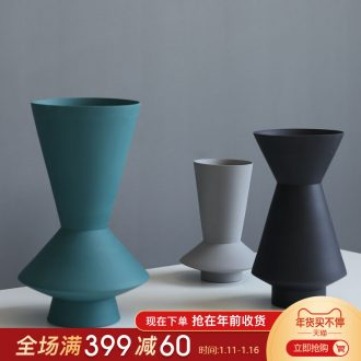 Jingdezhen Nordic I and contracted, ceramic vases, furnishing articles sitting room decoration model between geometrical frustum of a cone flower implement arranging flowers