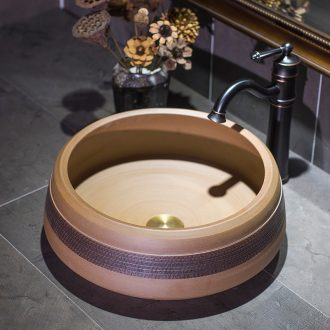 Jingdezhen ceramic lavatory jump cut jubao stage basin restoring ancient ways round the sink water basin of Chinese style basin that wash a face