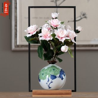 Vase office furnishing articles desktop jingdezhen ceramic water raise flowers creative sitting room adornment flower arranging hydroponic narrow expressions using