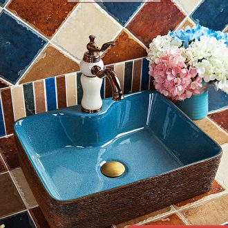 Square art ceramics on the sink basin bathroom sink bowl lavatory restoring ancient ways American household basin