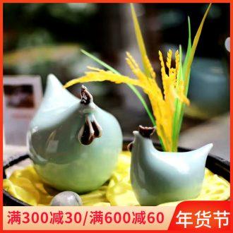 Jingdezhen ceramics craft ceramic chicken auspicious zoo porcelain ceramic household soft outfit desktop furnishing articles