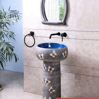 Ceramic lavatory floor is suing patio pillar sink basin contracted garden balcony sink basin