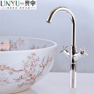 Copper double the single - hole faucet kitchen the stage basin accessories bibcock of cold hot hotel household ceramic valve core