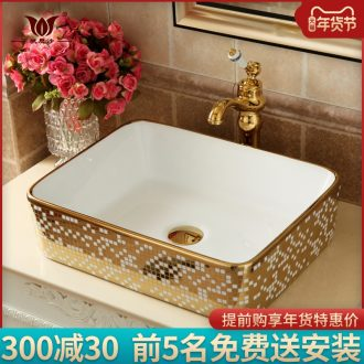 European square toilet basin on the ceramic bowl golden creative art basin sink sink pools