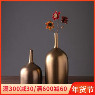 Jingdezhen ceramic vase in the sitting room is I and contracted household furnishing articles table surface porch decorative dried flowers, flower arranging flowers