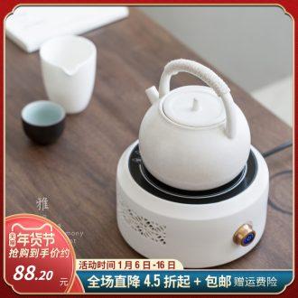Evan ceramic kettle household electrical TaoLu suit boiling tea is tea kettle pot boil tea stove restoring ancient ways