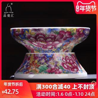 The Product of jingdezhen porcelain remit filtering carpet of kung fu tea set white porcelain enamel tea filters)