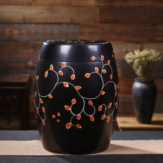 Jingdezhen ceramic barrel ricer box moisture storage cylinder archaize creative who with cover tea cake cylinder 30 jins of 50 pounds