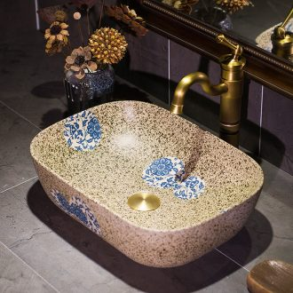 Mediterranean thin expressions using art stage basin ceramic lavatory square basin basin artical on the sink